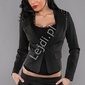 Marynarka młodzieżowa w eleganckim stylu | czarny żakiet damski v922