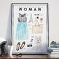 Plakat w ramie - i feel like a woman , wymiary - 50cm x 70cm, ramka - biała