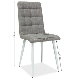 Krzesło do jadalni kiran szare