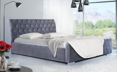 Eleganckie łóżko tapicerowane leeds z pojemnikiem na pościel 160x200 cm