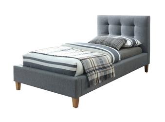 Łóżko tapicerowane elevate 90x200 szare pikowane