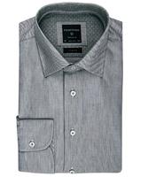 Elegancka jasnoszara koszula profuomo z klasycznym kołnierzykiem 44