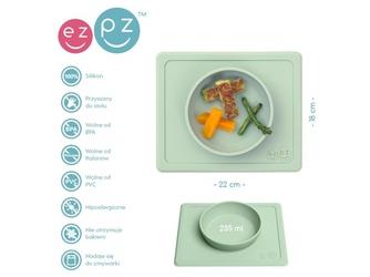 Zielona pastelowa miseczka z podkładką 2w1 mini bowl