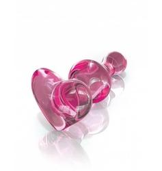 Szklany korek analny icicles no. 75 różowy | 100 dyskrecji | bezpieczne zakupy