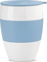 Kubek termiczny aroma to go 2.0 biało-niebieski