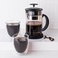 Szklanki  kubki szklane termiczne do kawy i herbaty z podwójną ścianką i dnem altom design andrea 300 ml komplet 2 szklanek + dzbanek z zaparza