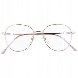 Okulary lenonki z filtrem blue light do komputera zerówki 2540-2