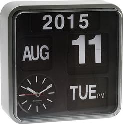 Zegar ścienny mini flip srebrny
