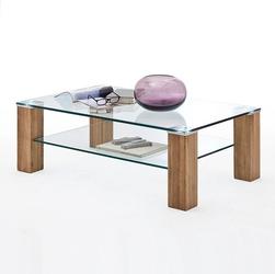Salma dębowy stolik ze szkłem