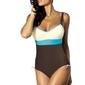 Kostium kąpielowy marko whitney africa-avorio-martincia m-253 brązowo-ecru-turkusowy 206