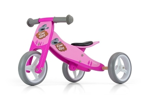 Milly mally jake pink cowgirl drewniany rowerek biegowy 2w1 + prezent 3d