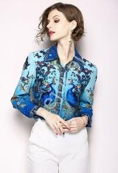 Oryginalna koszula damska z pawiami