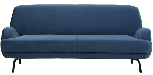 Sofa trzyosobowa revi niebieska welur