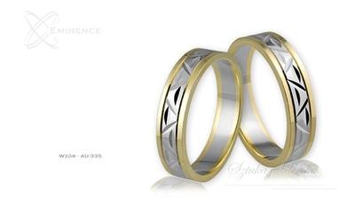 Obrączki ślubne - wzór au-335