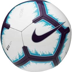 Piłka nożna nike pitch-fa18 sc3597-100 biało-fioletowo-niebieska