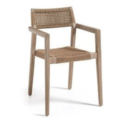 Drewniane krzesło ogrodowe garcia 57x54 cm beżowe