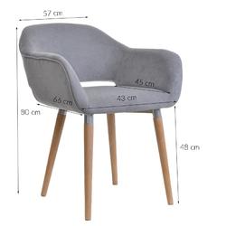 Fotel do salonu nordic skandynawski