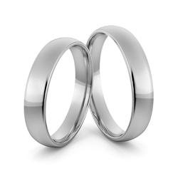 Obrączki ślubne platynowe klasyczne zaokrąglone 4 mm - pt-4