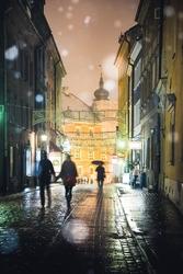 Warszawa spacerkiem po starówce - plakat premium wymiar do wyboru: 20x30 cm