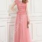 Długa suknia z gipiurowa koronką dla mamy, dla druhen, wieczorowa 9073