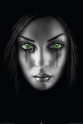 Smutna twarz kobiety - plakat