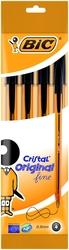 Długopis bic cristal original fine czarny - 4 sztuki