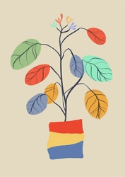 Kolorowe liście - plakat wymiar do wyboru: 60x80 cm
