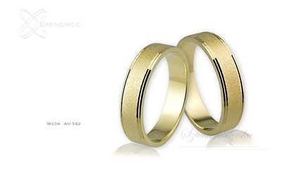 Obrączki ślubne - wzór au-342