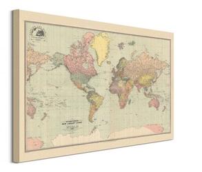 Stanfords mapa świata 1920 - obraz na płótnie