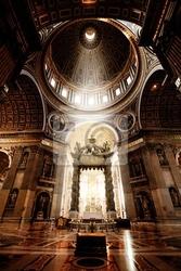 Fototapeta wewnątrz bazyliki świętego piotra, watykan