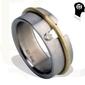 Pierścień z tytanu hadryś sabotaż 0,06 ct hsi