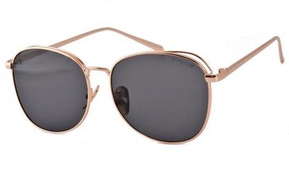 Damskie owalne okulary czarno zlote pre-33d