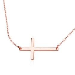 Staviori naszyjnik. różowe złoto 0,585. wymiary 20,7x12 mm. szerokość 0,6 mm.  długość regulowana 42cm lub 47cm.