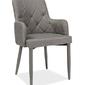 Krzesło tapicerowane do salonu elsa szare