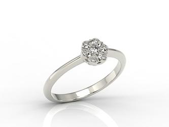 Pierścionek z białego złota z diamentami jp-87b - białe  diament