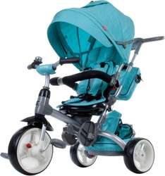Sun baby little tiger turkus rowerek trójkołowy 6w1 + prezent 3d