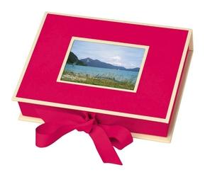 Pudełko na zdjęcia Die Kante różowe