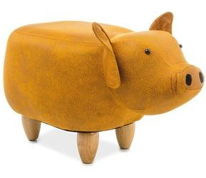 Pufa dziecięca świnka sandra żółta