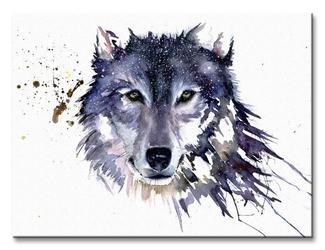 Snow wolf - obraz na płótnie