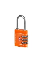 Pomarańczowa kłódka zabezpieczająca na zamek szyfrowy z systemem tsa - orange