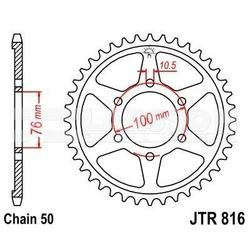 Zębatka tylna stalowa jt 816-50, 50z, rozmiar 530 2300153 suzuki gsf 120