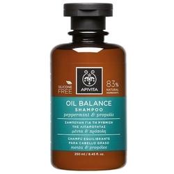 Apivita szampon przywracający równowagę do włosów tłustych z miętą pieprzową i propolisem 250ml - do włosów przetłuszczających się