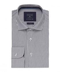 Elegancka koszula profuomo originale w granatowe prążki 43