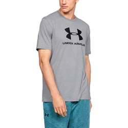 Koszulka męska under armour sportstyle logo ss - szary