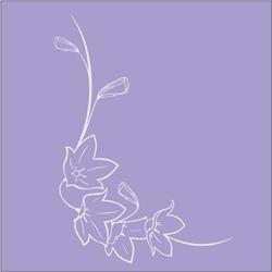 Naklejka ramka na lustro kwiat ns18