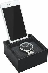 Stacja dokująca i pudełko na zegarek pojedyncze stackers czarne
