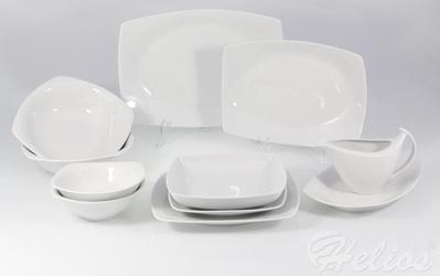 Serwis obiadowy bez wazy dla 12 os.  44 części - c000 akcent biały