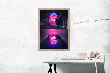 Neon club - plakat premium wymiar do wyboru: 60x80 cm