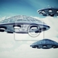 Fototapeta ufo na niebie