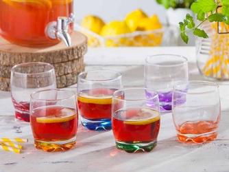Szklanki do whisky z kolorowym dnem glasmark, komplet 6 szt.